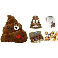 """Preisvergleich für """"Mr. Poo"""" EMOJI Plüsch Box - Perfekte Geschenkbox, voll von Emoji Favoriten !! * KOSTENLOS * keyclip"""