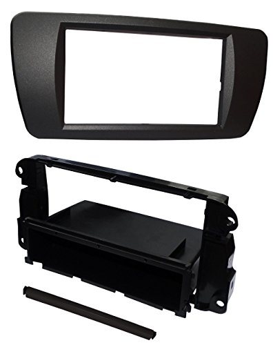 Preisvergleich Produktbild Aerzetix - Autoradio Adapter Radio Blende Autoradio Rahmen Adapter 1 DIN Schwarz