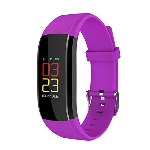 WTYCHS Aktivitätstracker Fitness Armband Damen Herren Pulsmesser Smart Armband Mit Blutdruckmessung IP67 Wasserdicht Smartwatch, Lila