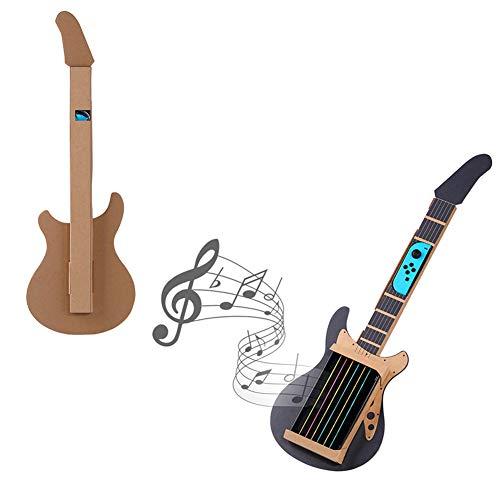 Onyehn Karton-DIY-Gitarre für Nintendo Switch Zubehör, Sortimentsset, Joy-Con Gitarre Musik-Set für Spielzeug, Garage - Video-spiel-gitarre