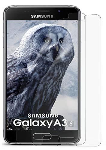 2X Samsung Galaxy A3 (2016) | Schutzfolie Matt Bildschirm Schutz [Anti-Reflex] Screen Protector Fingerprint Handy-Folie Matte Bildschirmschutz-Folie für Samsung Galaxy A3 2016 Bildschirmfolie