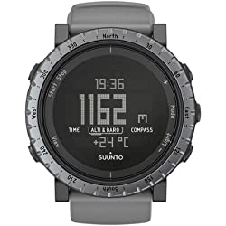 Suunto Men's 50mm Grey Silicone Band Steel Case Quartz Digital Watch SS020344000
