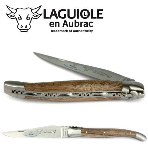 Laguiole en Aubrac Taschenmesser L0212NOIF 12 cm, Klinge 10 cm matt, Backen matt, Griffschalen Walnussholz