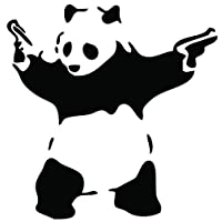 Banksy Gangster Panda Decal Wall Sticker (ban5)