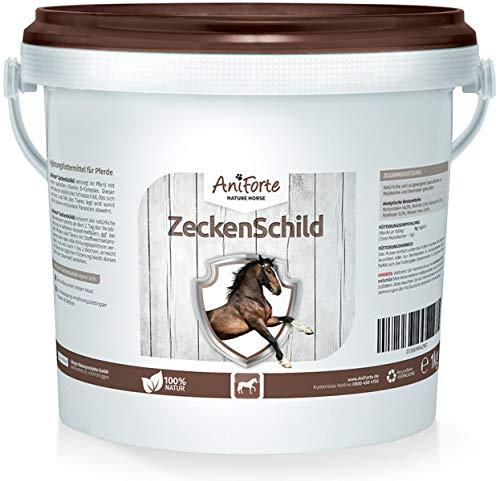 AniForte Zeckenschild für Pferde 1kg - Natürlicher Zeckenschutz, Abwehr gegen Zecken und Parasiten, Anti-Zecken Schutz, Zeckenabwehr Naturprodukt