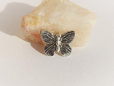 Lot 30 Breloques - pendentifs papillon ? 14x19x2 mm Argent Tibétain