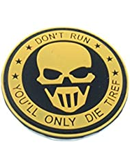 No Run Punisher Dark Earth PVC Airsoft Velcro Patch
