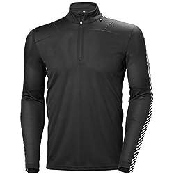 Helly Hansen HH LIFA 1/2 Zip Camiseta Deporte, Hombre, Negro, XL