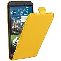 HTC Case Cover Cassa genuina Split cuoio di vibrazione verticale per HTC One M9 ( Color : Yellow )