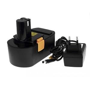 Batterie pour Ryobi Type B-1815-S Li-Ion Chargeur incl., 18V, Li-Ion