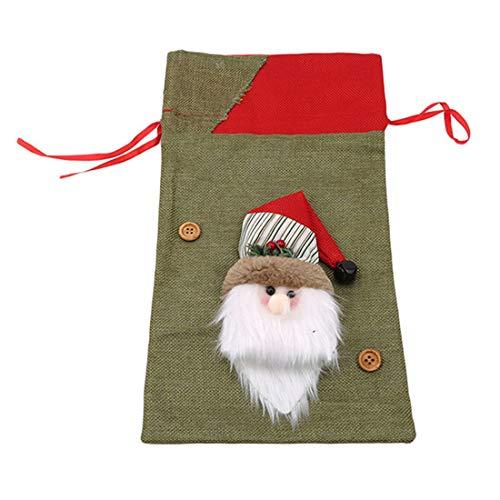 LGJJJ Kind Candy Bag ältere Santa Claus Geschenktüte Kleine und süße Fondant Lebensmittelgeschäft Tasche Weihnachten Tag Dekoration Lieferungen, ältere Menschen