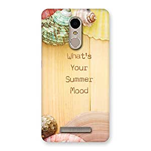 Neo World Summer Mood Back Case Cover for Xiaomi Redmi Note 3