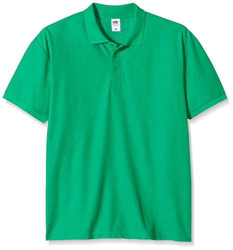 Fruit of the Loom Herren Poloshirt Raglan Sleeve Grün - Green (Kelly Green)