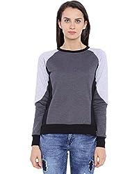 Campus Sutra Women Tri-Color Sweatshirt(AW16_HTRI_W_PLN_CH_S)
