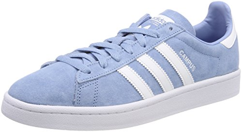 adidas Herren Campus Gymnastikschuhe, Türkis (Ash Blue S18/Ftwr White/Ftwr White), 46 EU (Adidas-symbol)