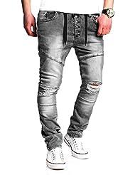MT Styles Jogging-Jeans boutons pantalons RJ-2084