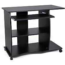 Mesas ordenador negra for Mesa ordenador amazon