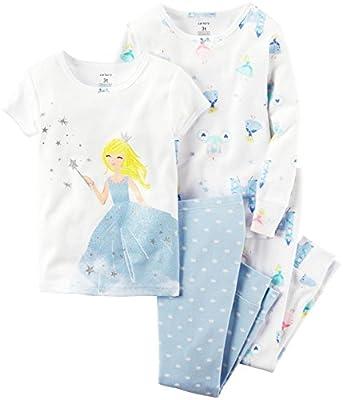 Juego de pijama de 4 piezas MIX 'N MATCH Baby / Toddler Girls de Carter para pijama de algodón