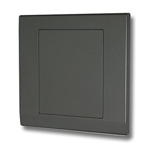 Retrotouch Simplicity 07842 Screwless Mid Grey Single Blank Plate