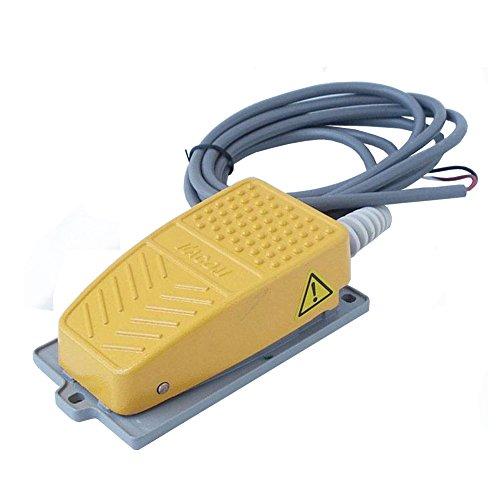 Feel Glad(TM) Fußschalter Trittschalter Industrie Fußtaster mit 2m Kabel - gelb