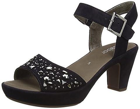 Gabor Shoes Damen Fashion Plateau, Blau (Pazifik (Strass) 16), 38 EU