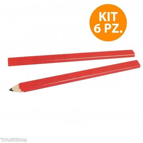 tradeshoptraesio–Lapislazuli Bleistifte Bleistift Packung 6Stück Maurer...