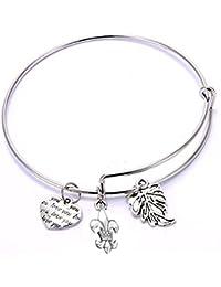 Mahi Rhodium Plated Lovely Charms Bracelet for Girls and Women BA1101069R