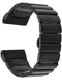 TRUMiRR 26mm Banda de Reloj de Acero Inoxidable para Garmin Fenix 3 / Fenix 3 HR / Fenix 5X Correa de Hebilla de Mariposa con Herramienta de Eliminación de Vínculo Actualizado