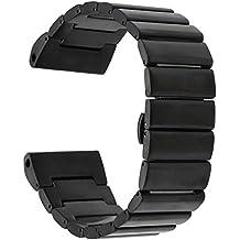 TRUMiRR 26mm Banda de Reloj de Acero Inoxidable para Garmin Fenix 3 / Fenix 3 HR Correa de Hebilla de Mariposa con Herramienta de Eliminación de Vínculo Actualizado