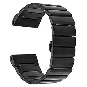 Garmin Fenix 3/HR Armband, TRUMiRR 26mm Edelstahl Uhrenarmband für Garmin Fenix 3/Fenix 3 HR Schmetterling Buckle Strap mit aufgerüstetem Link Removal Tool
