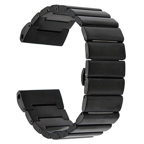 Garmin Fenix 3 / HR Armband, TRUMiRR 26mm Edelstahl Uhrenarmband für Garmin Fenix 3 / Fenix 3 HR Schmetterling Buckle Strap mit aufgerüstetem Link Removal Tool (Ein Weg, Schraube-treiber)