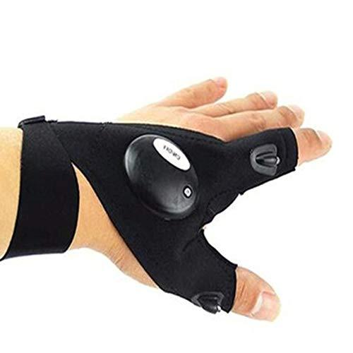 b3e1b58285b6b7 PETUNIA Fishing LED Flashlight Torch Glove Breathable Lighting Gloves  Left/Right Hand - Black(Left Hand)