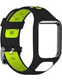 hifuture Bracelet de Montre pour Tom Tom 2/Tom Tom 3/Tom Tom Runner 2/Runner 3/Spark 3 GPS Montre, Étanche en Caoutchouc de Silicone Bracelet de Montre