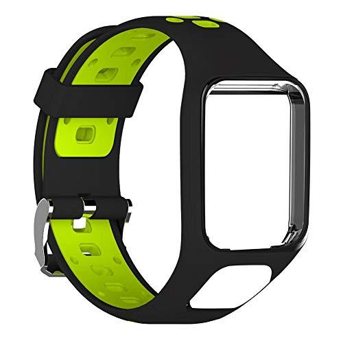 Inciple Silikon-Ersatzarmband-Armband für TomTom 2 3 Series Runner 2 3 Spark Series Golfer 2 Abenteurer GPS-Uhr