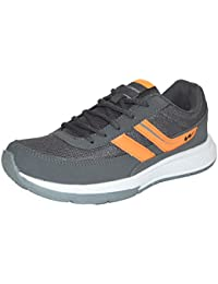 Campus Mens Grey Orange Colour 3G8213 Series Synthetic And Nylon Mesh Sport Shoes