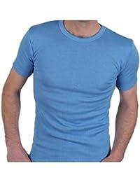 Calidad Hombre Térmico Top De Manga Corta / Camiseta / Ropa interior - disponible en blanco / Azul / Gris carbón y en Talla S / Mediana / Grande / Xl / XX grande