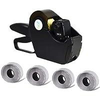 Virsus Prezzatrice macchina pistola etichettatrice a 8 caratteri e cifre con 1 linea di stampa + 4 rotoli da 1500…