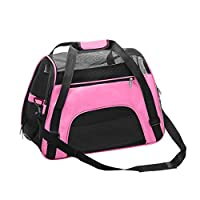 Haodasi Soft Sided Pet Carrier Bag Comfort Dogs Cats Travel Carrier Box, Mesh and Waterproof Fabric Shoulder Bags