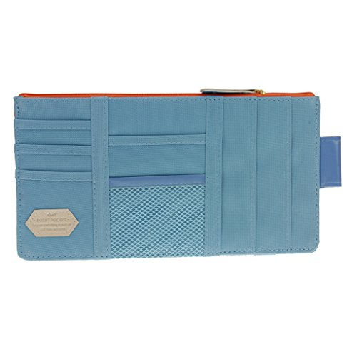 FakeFace CD-Tasche für Auto Sonnenblende Tasche Aufbewahrung CD Holder Organiser Auto Sonnenblendentasche (Lake Blue)