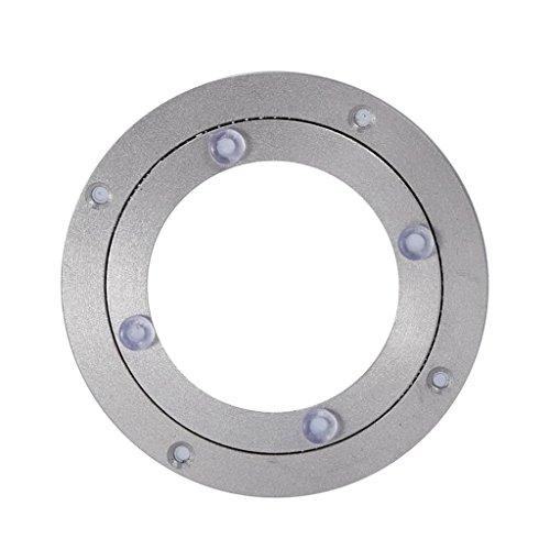 MagiDeal Roulement à Billes Plaque Pivotante Métal Plateau Tournant en aluminium - 4 pouce