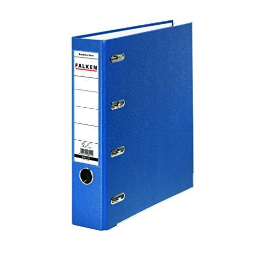 Falken PP Kunststoff-Doppelordner 7 cm breit für 2x DIN A5 quer Ablage mit Wechselfenster blau Kontoauszug-Ordner Ringordner Aktenordner Briefordner Büroordner Plastikordner Schlitzordner