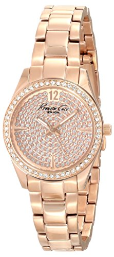Kenneth Cole New York Men's KC0005 Classic Round Rose Gold Stone Dial Bezel Bracelet Watch (Certified Refurbished)