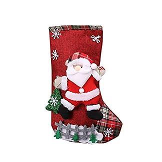 LPxdywlk Calcetines De Navidad Santa Elk Muñeco De Nieve Calcetines Bolsa De Regalo Grande Bolsa De Dulces Árbol De Navidad Decoración Colgante