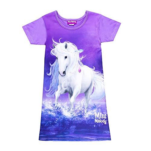 Miss Melody Mädchen Nachthemd, lila, violett Größe 116, 6 Jahre
