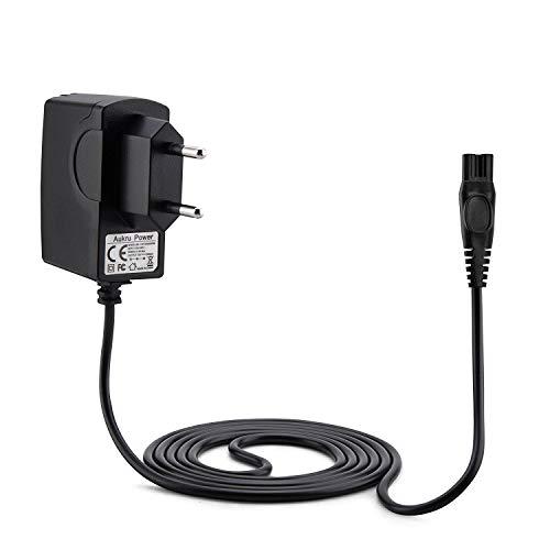 Aukru Cargador de Fuente de alimentación 15v para Philips afeitadora eléctrica 1050X, 1050CC, 1059X, 1060X, 1090X, RQ1051, RQ1075, RQ1085, RQ1095, RQ1090, RQ1060, RQ1050