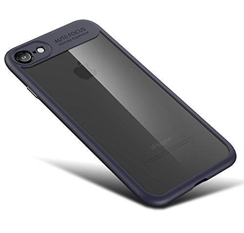 iPhone 7 Hülle, [Ultra Hybrid] Cover [Weiß] inkl. Panzerglas Handyhülle TPU Bumper Tasche Panzerfolie Acryl Schutzhülle für iPhone 7 Case Cover [White] Blau