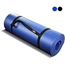 Umi. by Amazon - Tappetino Fitness per Pilates EXTRA spesso Perfect for Yoga Pilates Abdominals and Stretching 180 x 61 x 1.5 cm (blu)