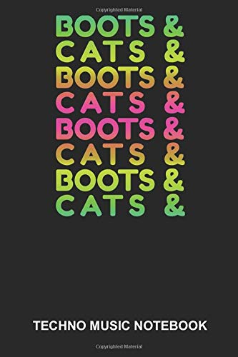 Techno Music Notebook: Dotted Log Book For Raver And Dancer: Edm Rave Journal | Boots And Cats Gift -