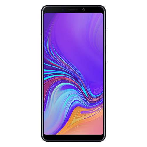"""三星Galaxy A9(2018)智能手机,黑色(鱼子酱黑),6.3显示器""""128 GB可扩展,[意大利语版]"""