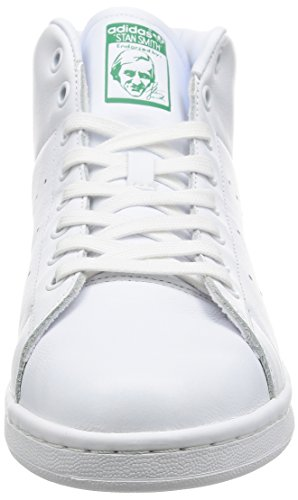 adidas Stan Smith Mid, Sneaker Basses Mixte Adulte Blanc Cassé (Ftwr White/ftwr White/green)